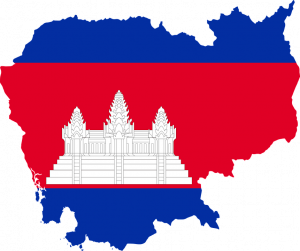 map/flag of Cambodia