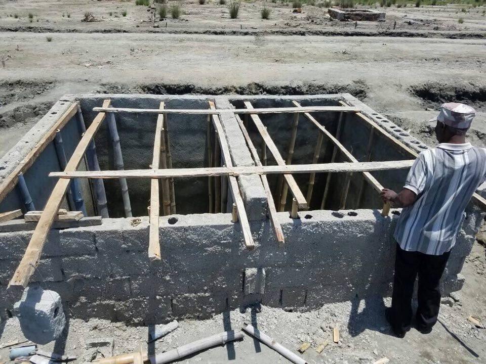 Clean public latrine installed in Haitian village