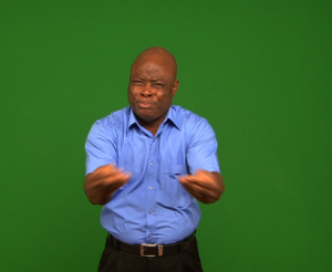 DOOR_on screen signing Nigerian Sign Language