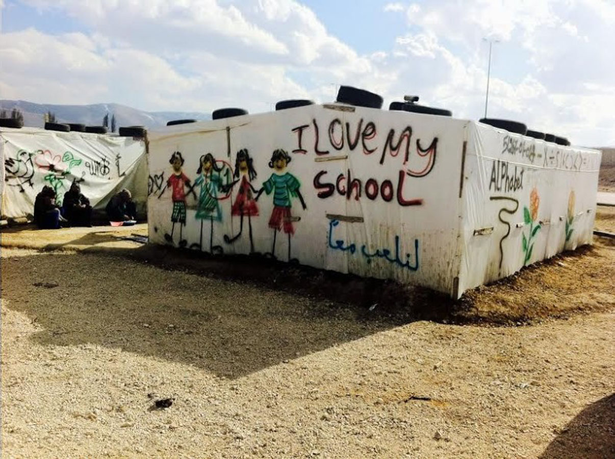 Update on tent school for refugee kids in Lebanon