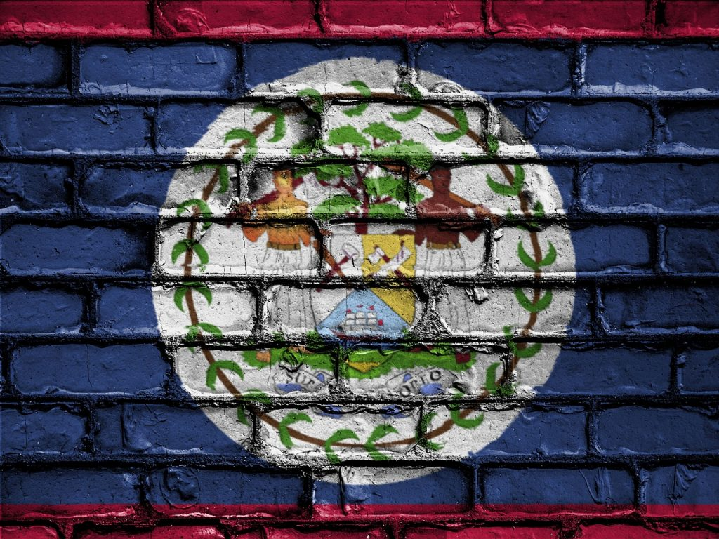 Belize flag, Pixabay