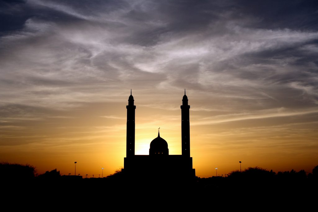 photo from Pexels, mosque, sunset, muslims