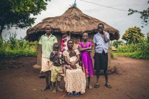 FFH, Uganda, refugee, mother, woman, children, kids, family