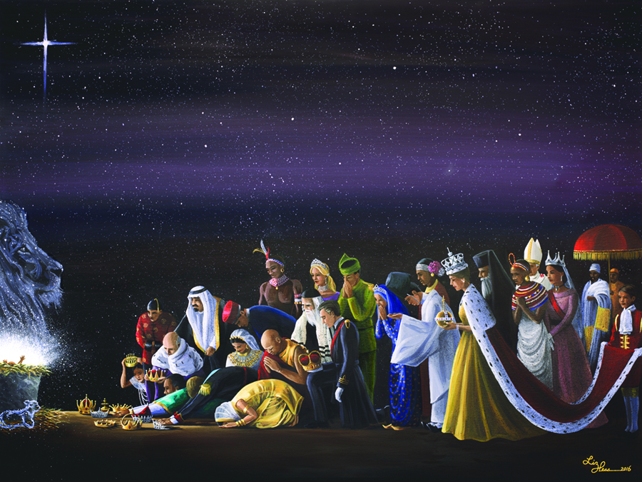 Powerful Advent paintings encourage creative missions