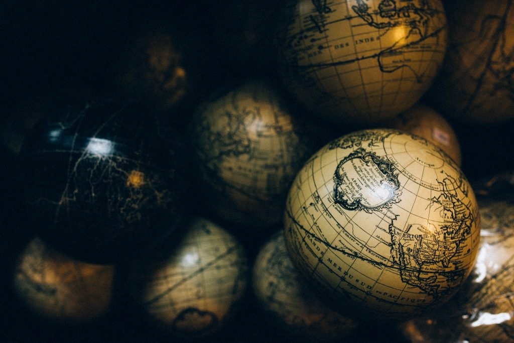 maps, globes, world, dark