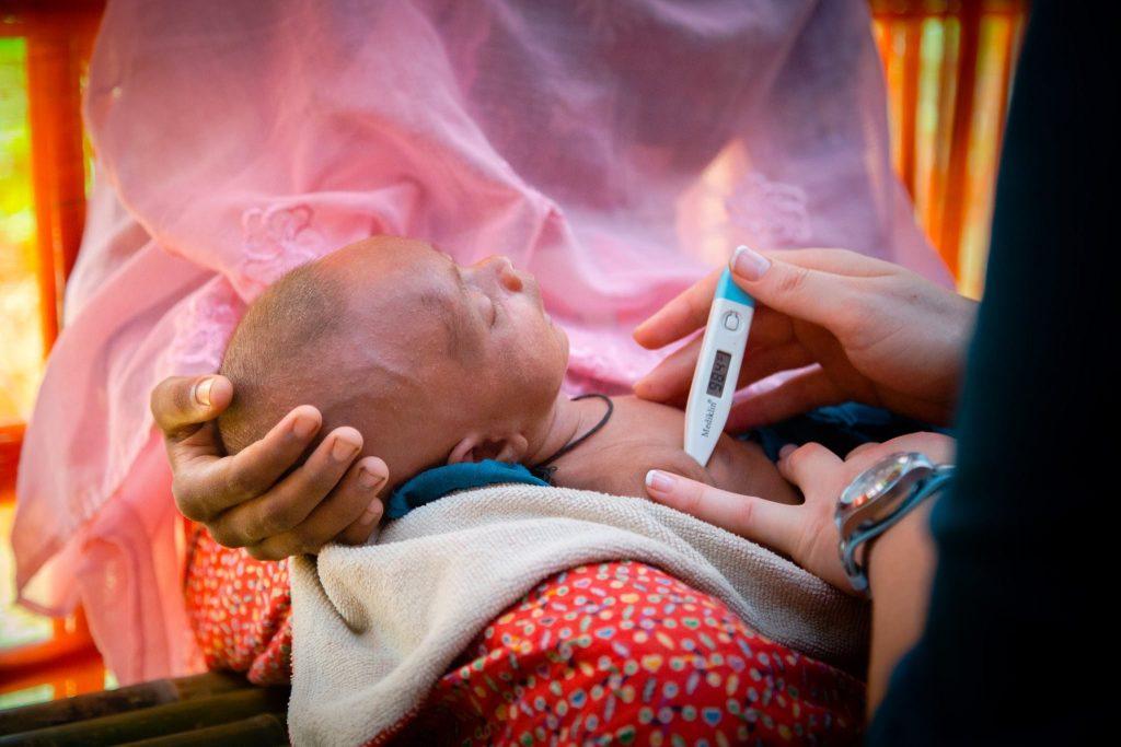 Rohingya refugees baby infant child medical facility