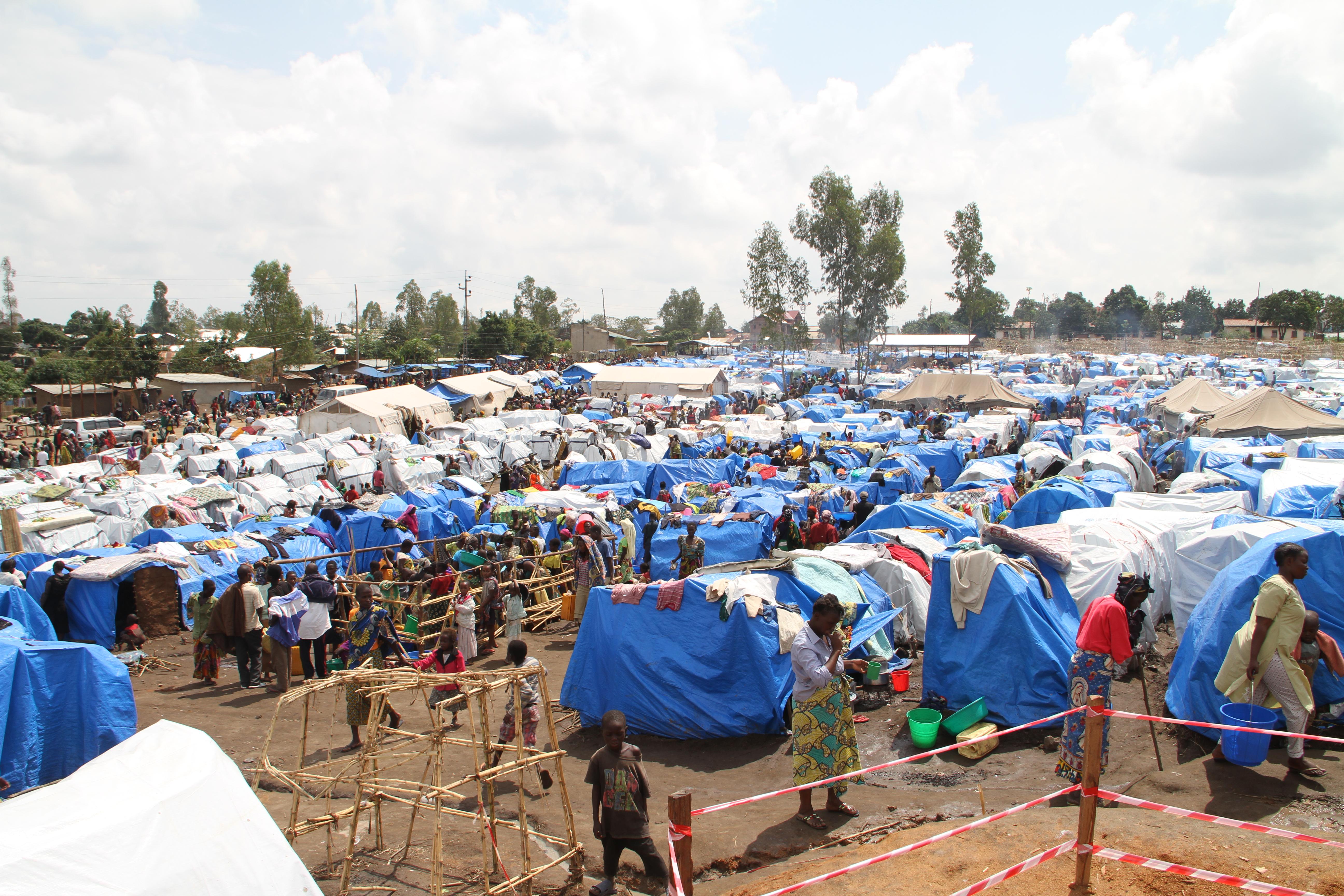 DRC, Democratic Republic of the Congo, IDP camp