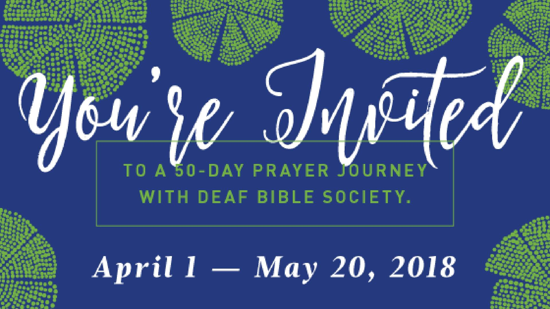 50-day prayer journey encourages Christians to pray for the Deaf