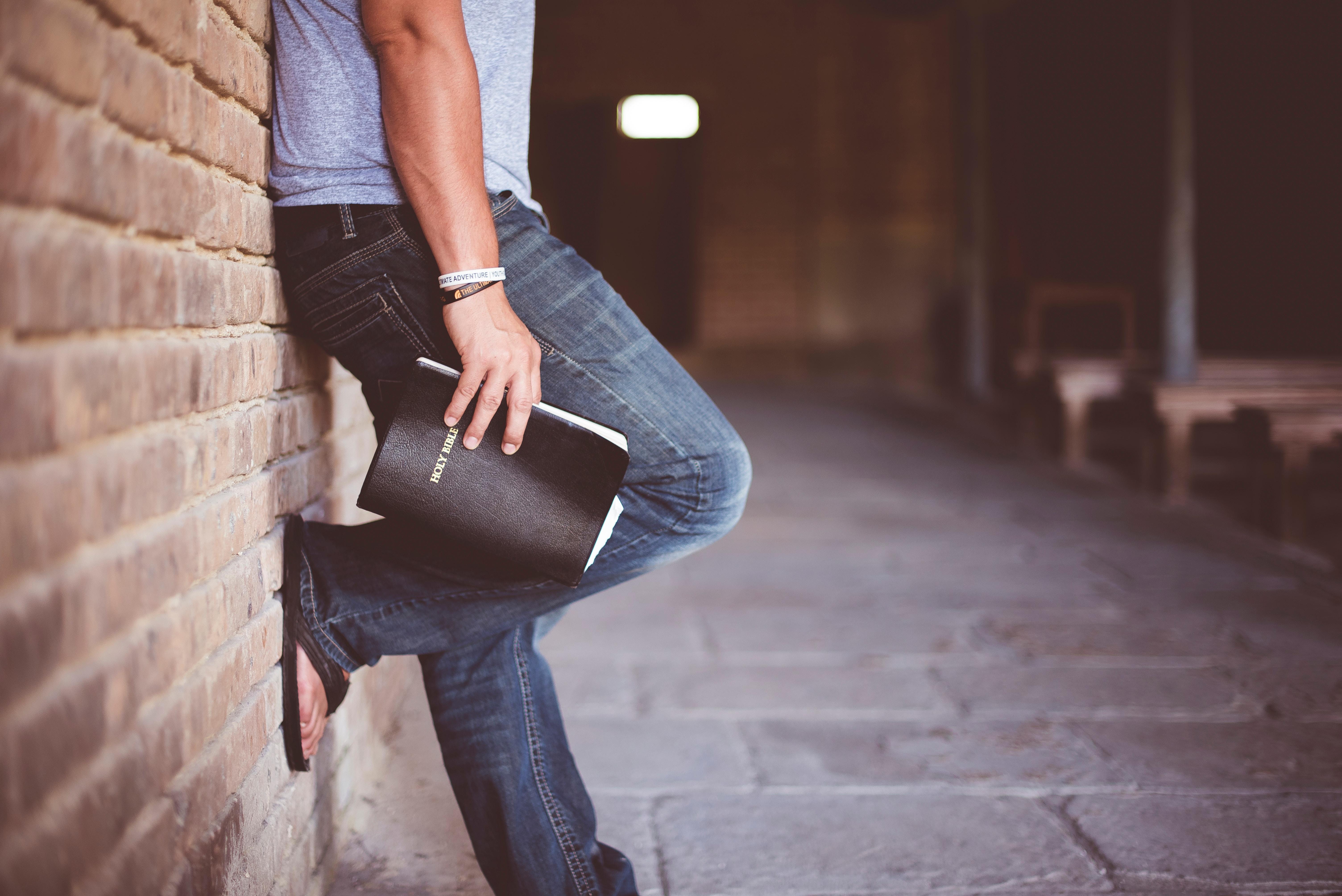 bible, wall, hand, man, boy