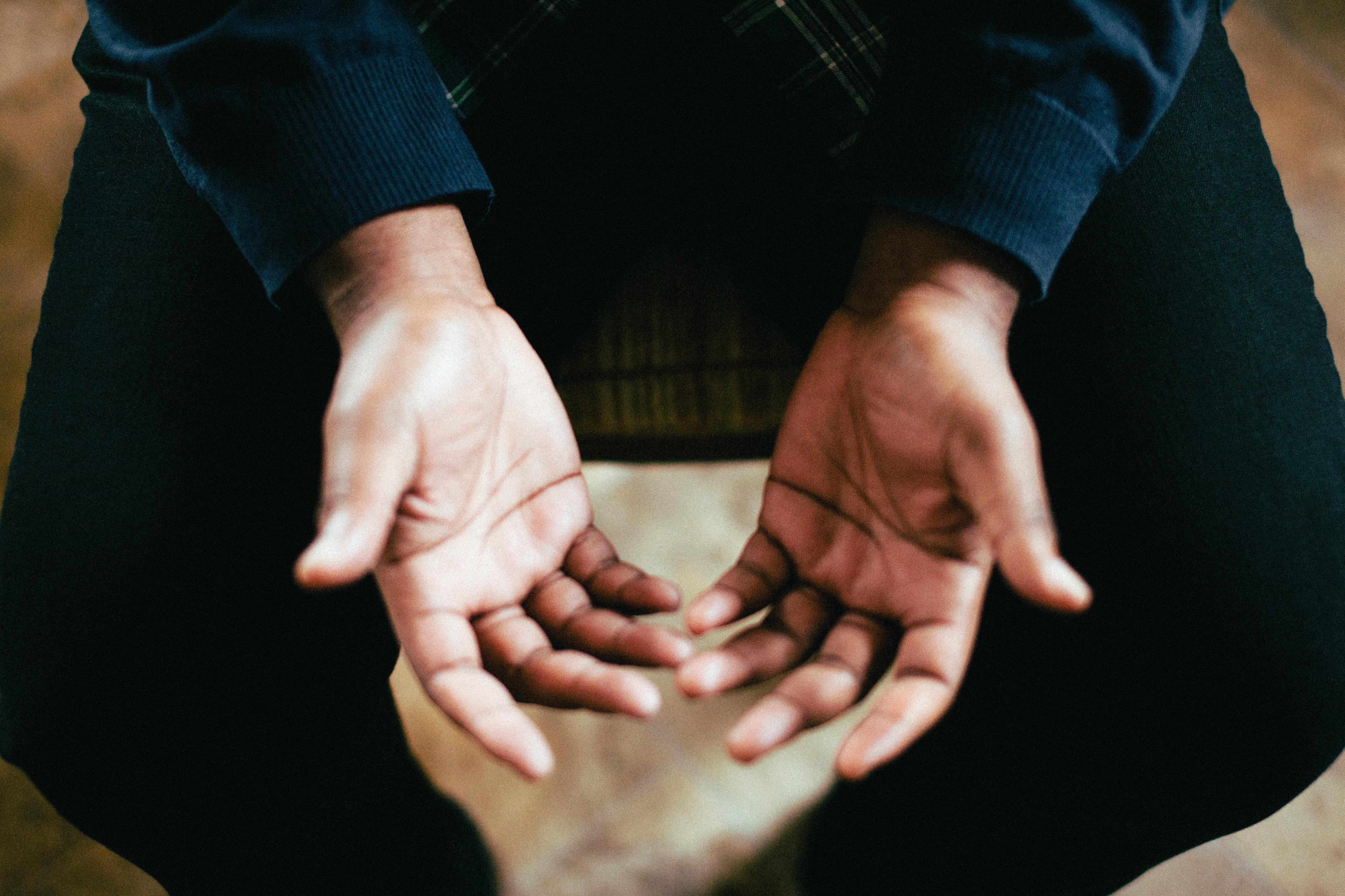 hands, prayer, talking Photo by Jeremy Yap on Unsplash