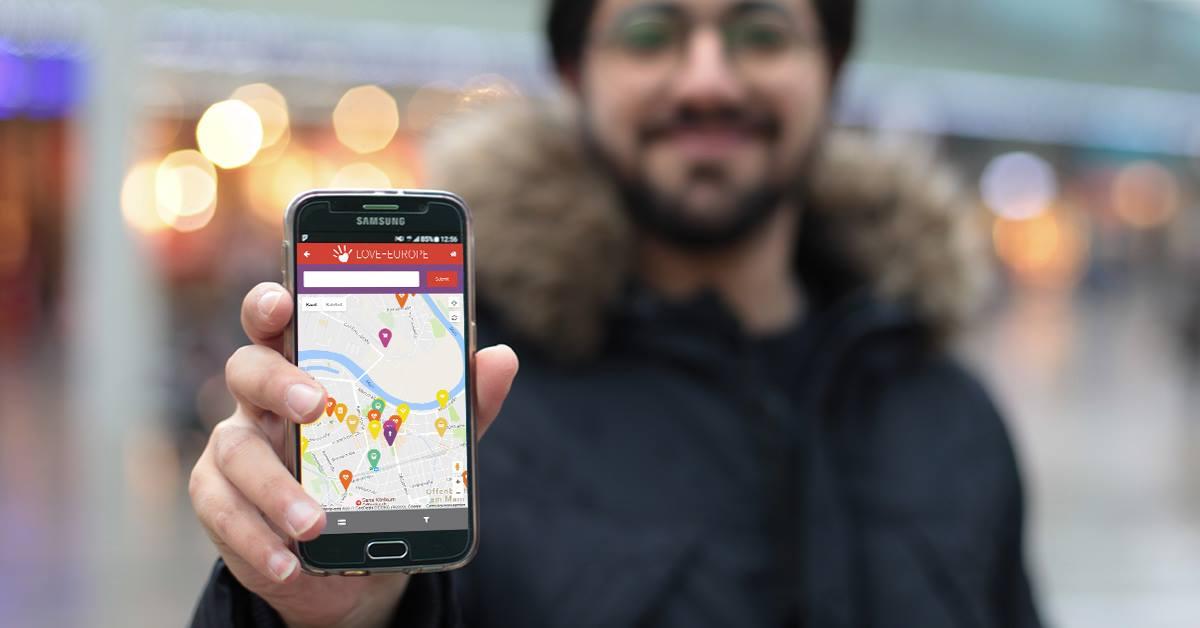Love Europe app helps refugees