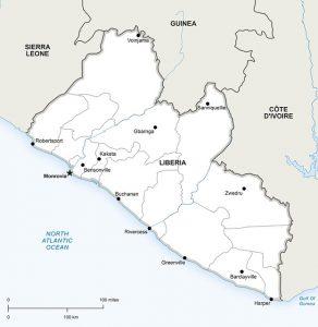 liberia - map - pixabay