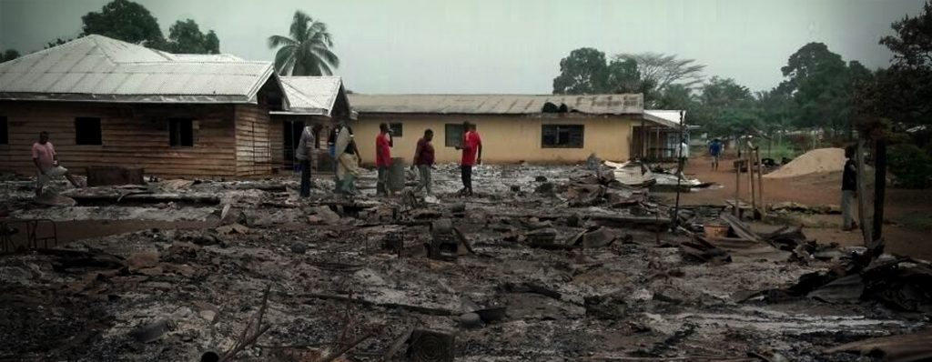 Cameroon violence, village burned