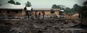 Cameroon violence, village burned