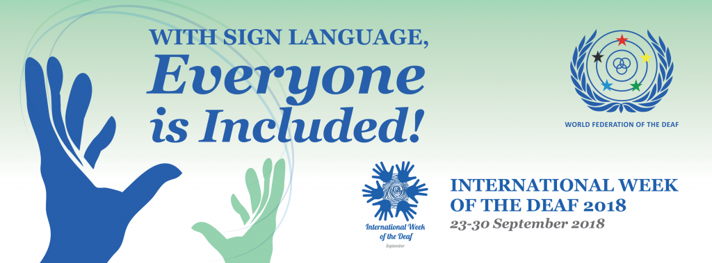 International Day of Sign Languages 23 September