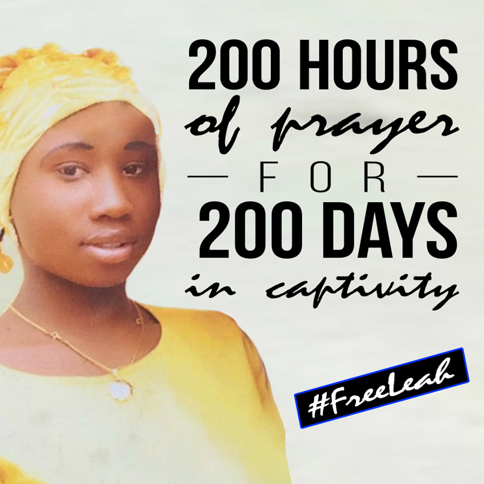 Leah Sharibu marks 200 days in captivity