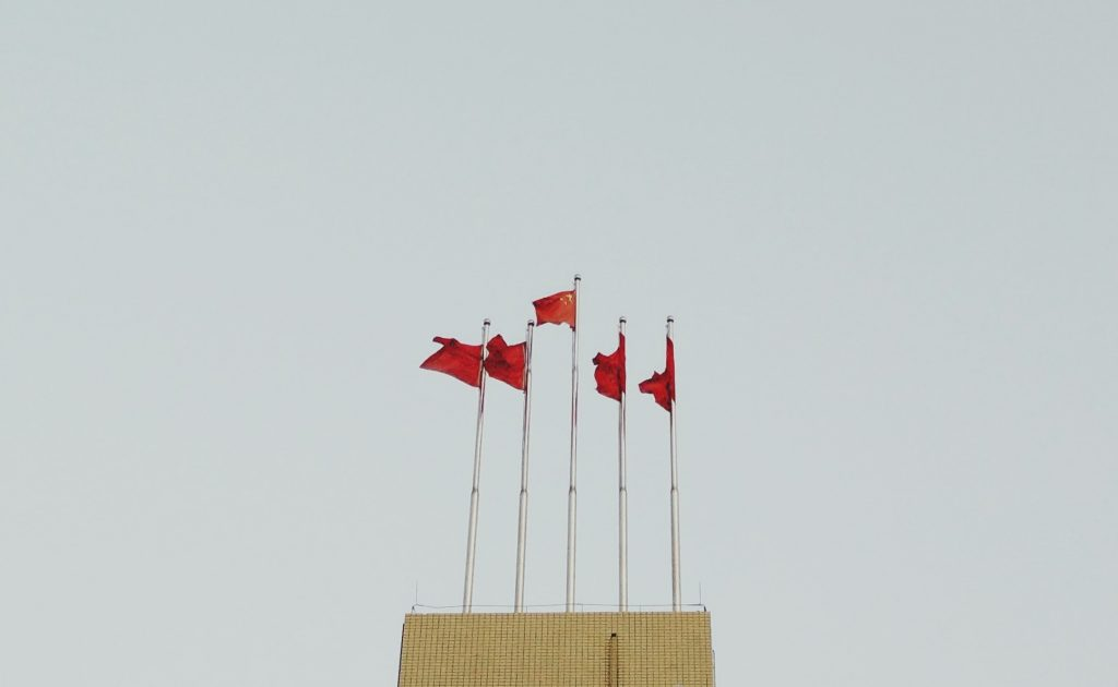 china, chinese, flags, unsplash