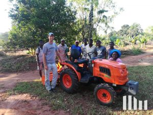 Village's first tractor ever