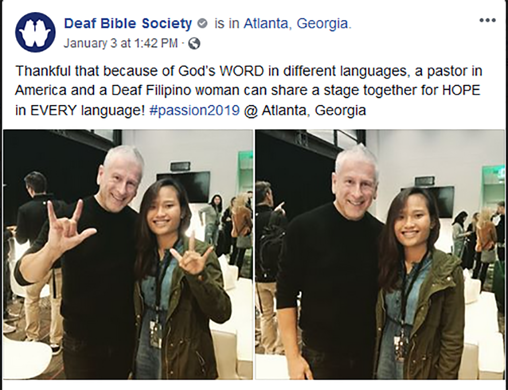 Passion 2019 highlights Scripture poverty among Deaf