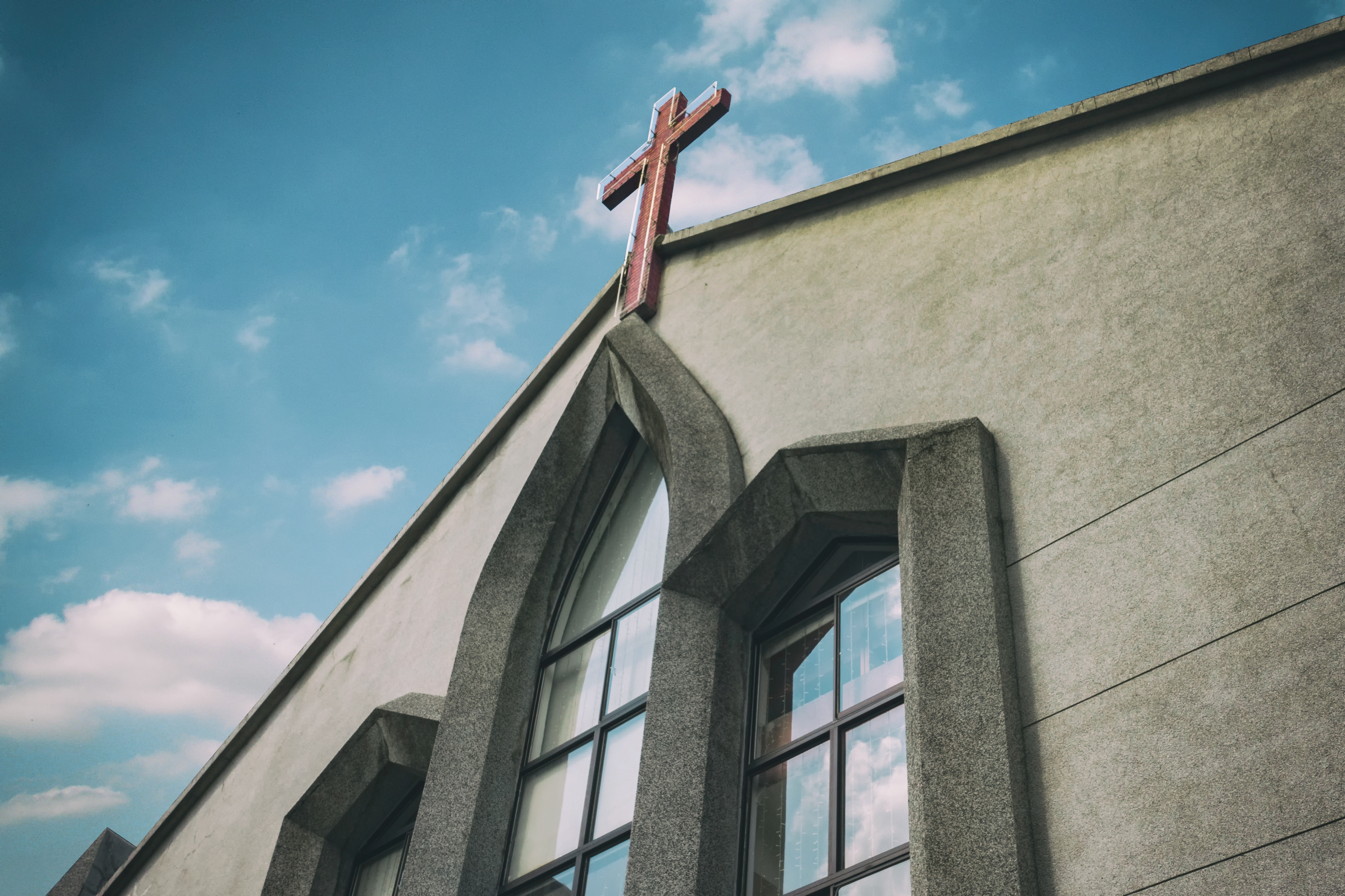 church, cross, steeple