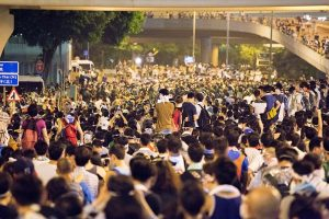 image of 2014 Hong Kong protests (Photo courtesy of Wikimedia Commons)