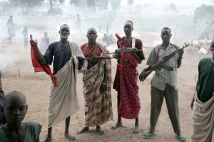 unsplash, south sudan fighters, guns, men
