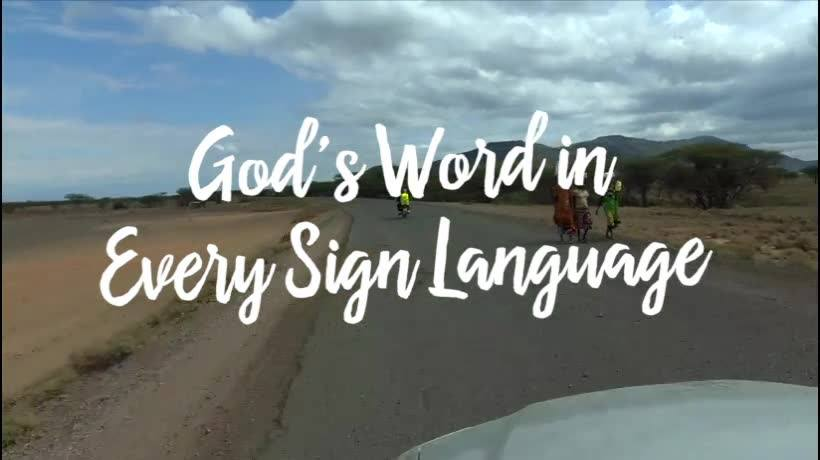Deaf Bible Society empowers sign language Bible translation