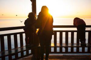 family, kids, children, sunset