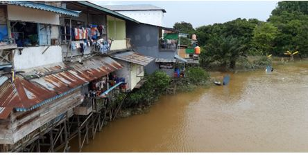 Recovery efforts begin in the flood chaos of Indonesia.