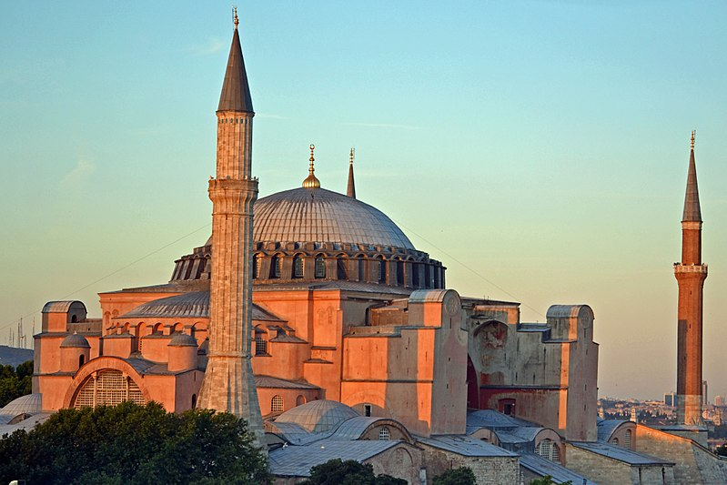 Muslim messages broadcast from ancient Christian church