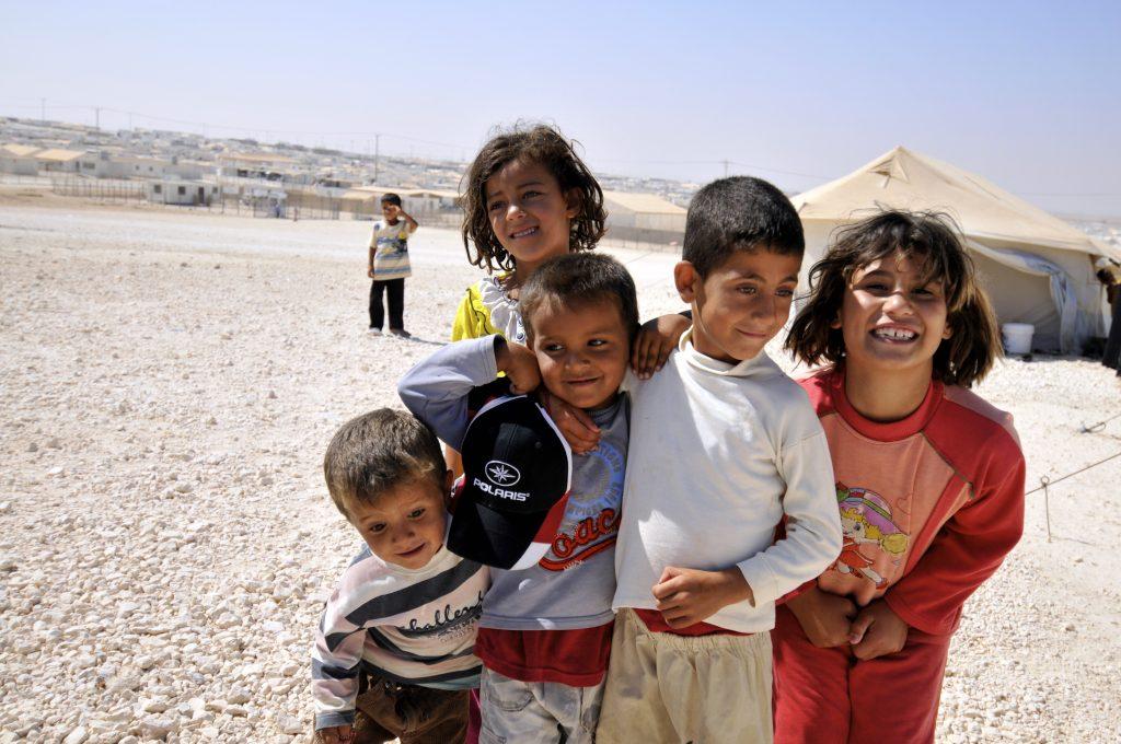 Jordian refugee camp, wikimedia commons