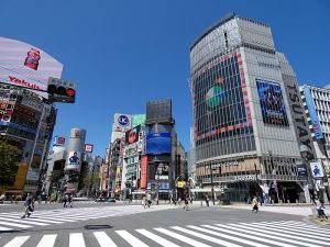 Near-empty streets in Japan during COVID-19 lockdown. (Photo courtesy of Wikimedia Commons)