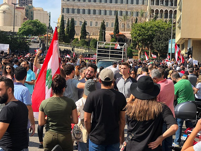 Lebanese Protests Call for  change of leadership – again
