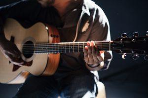 guitar, music, worship