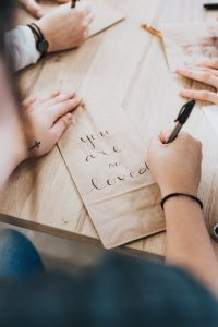 hands, tattoo, cross, pen
