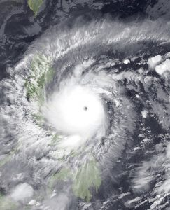 Typhoon Goni (Rolly) the last typhoon to hit the Philippines before Vamco. (Photo courtesy of Wikimedia Commons, Public Domain)