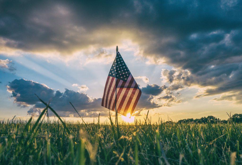 american flag, unsplash