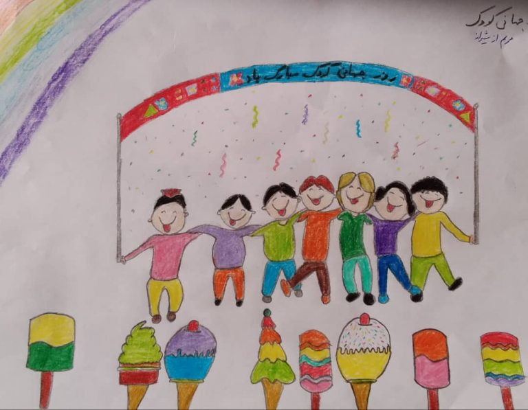 Kids in Iran draw a hopeful future after COVID-19