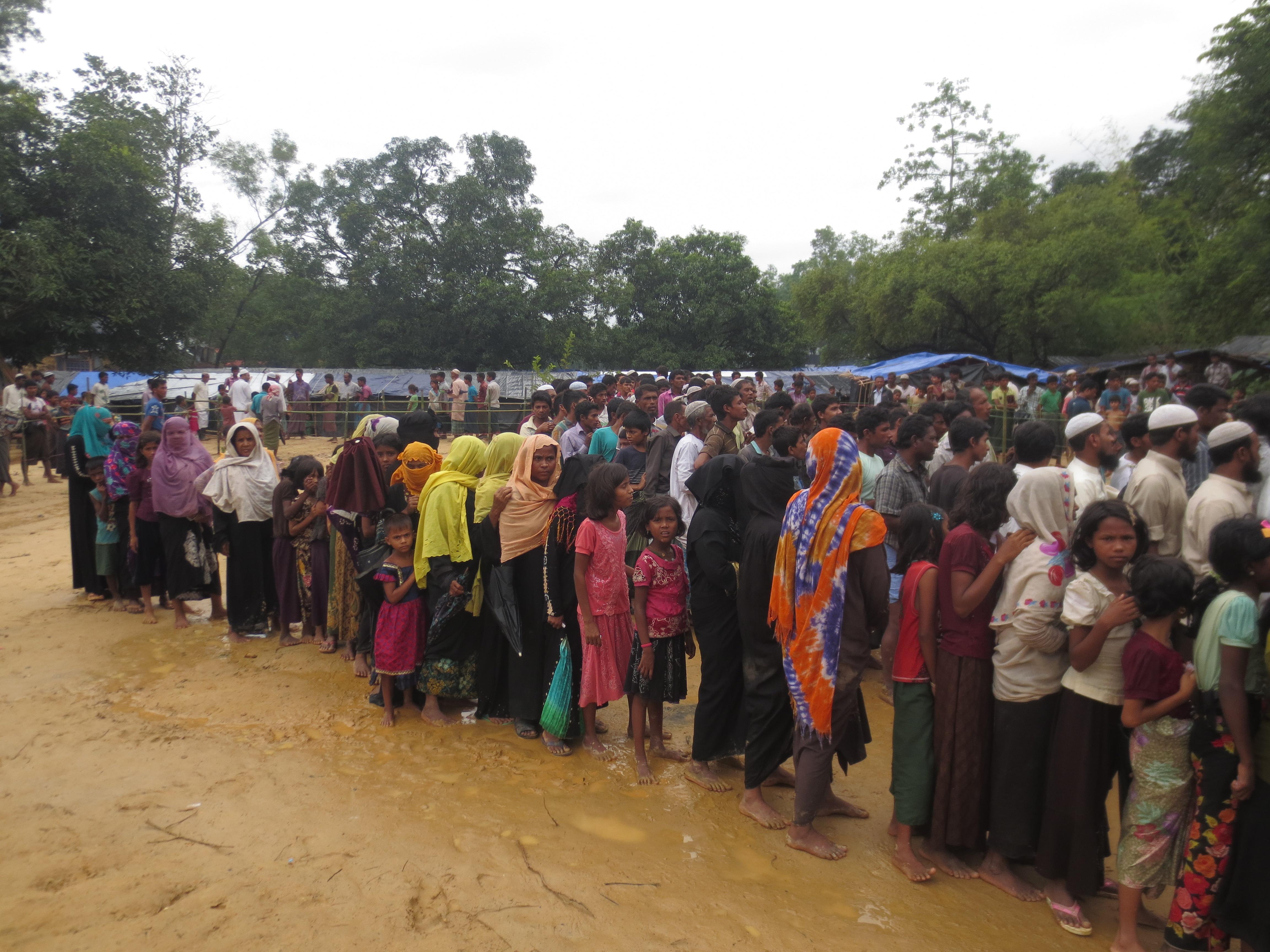 Hundreds of Rohingya refugees moved to an island
