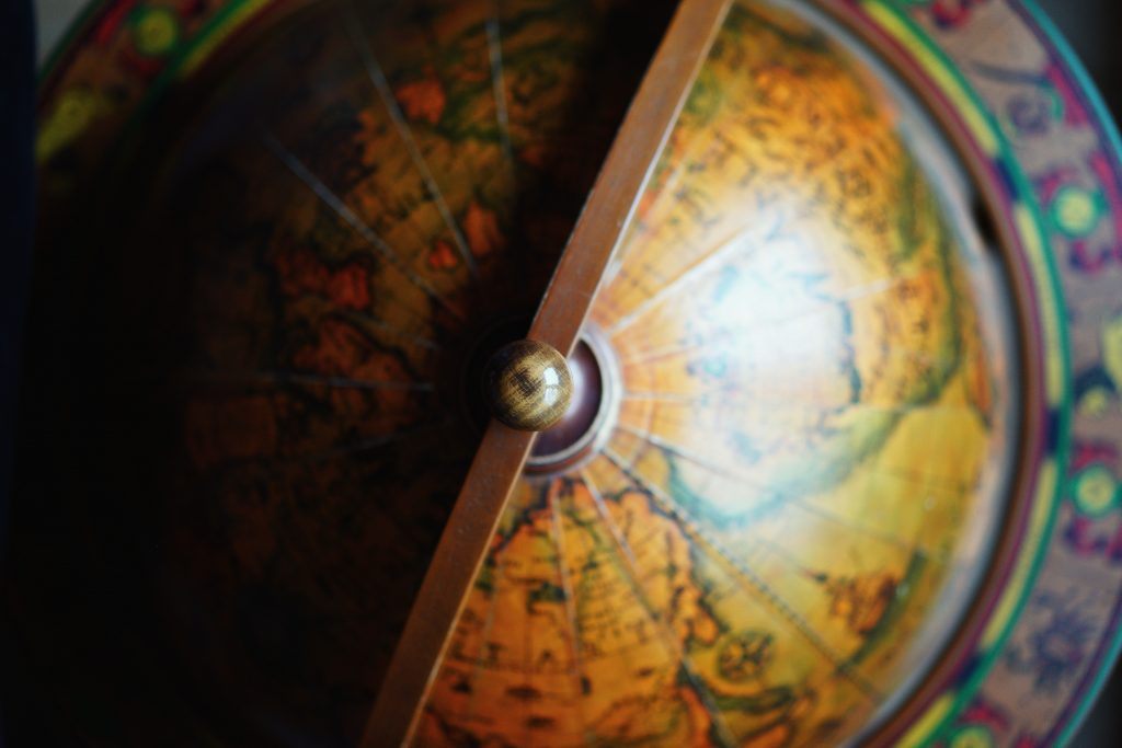 globe, map, world