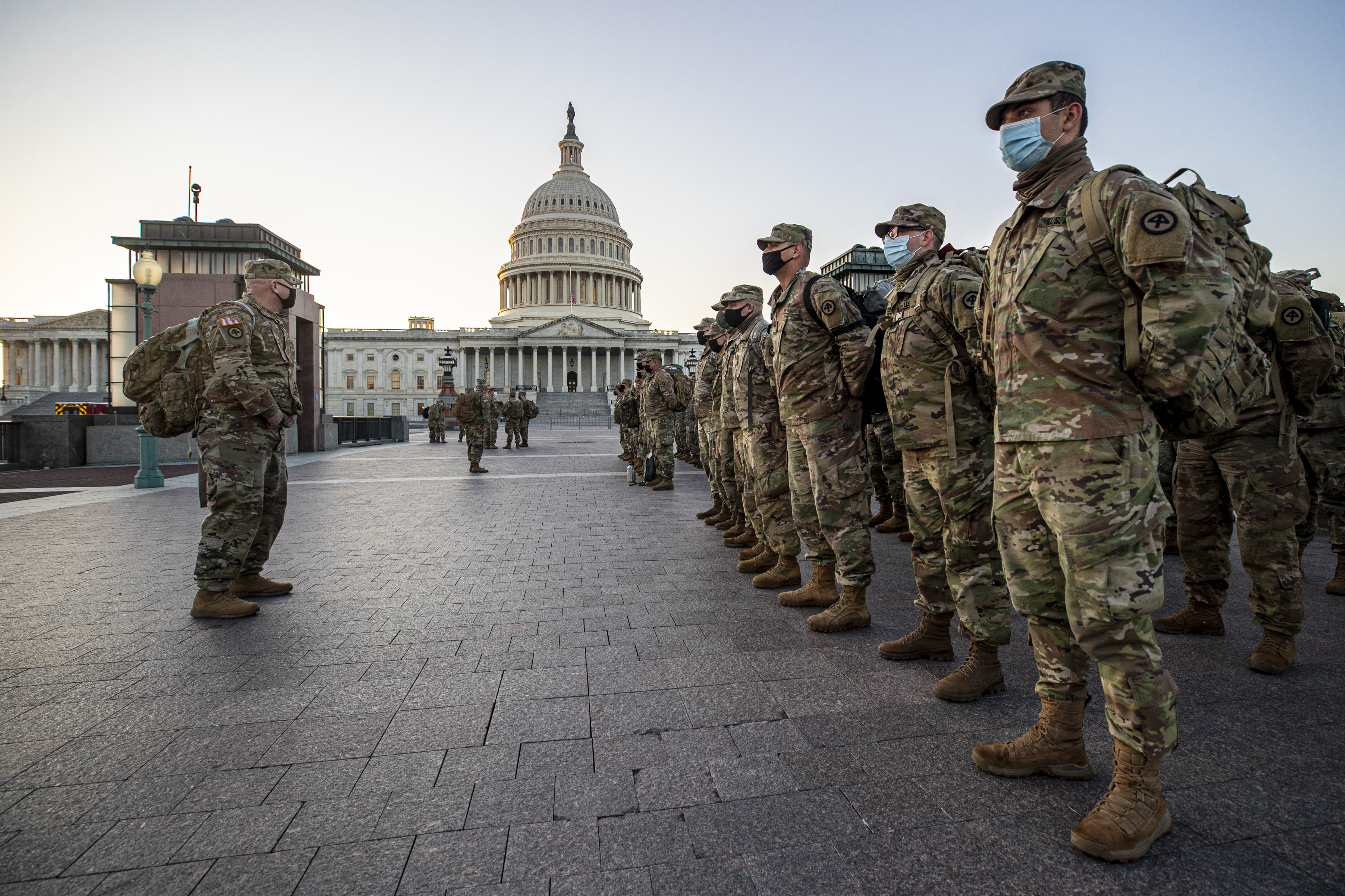 United States on guard against further violence