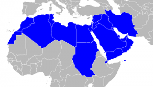 Map of commonly included MENA (Middle East & North Africa) countries. (Wikimedia Commons)