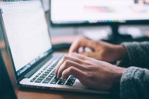 internet, laptop, computer, online, hands