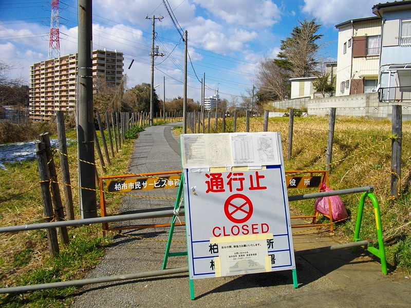 The header photo shows a radiation hotspot near Fukushima in 2012. (Photo courtesy of Wikimedia Commons, Public Domain)