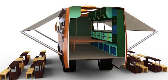 Tent Schools International funding a truck school in Lebanon