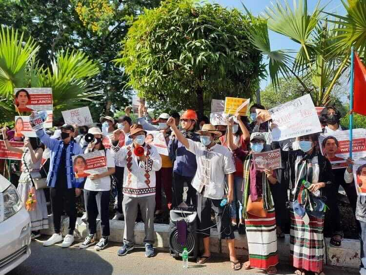 The header photo shows people gathered to protest the coup in Myanmar. (Photo courtesy of friends of Asian Access)