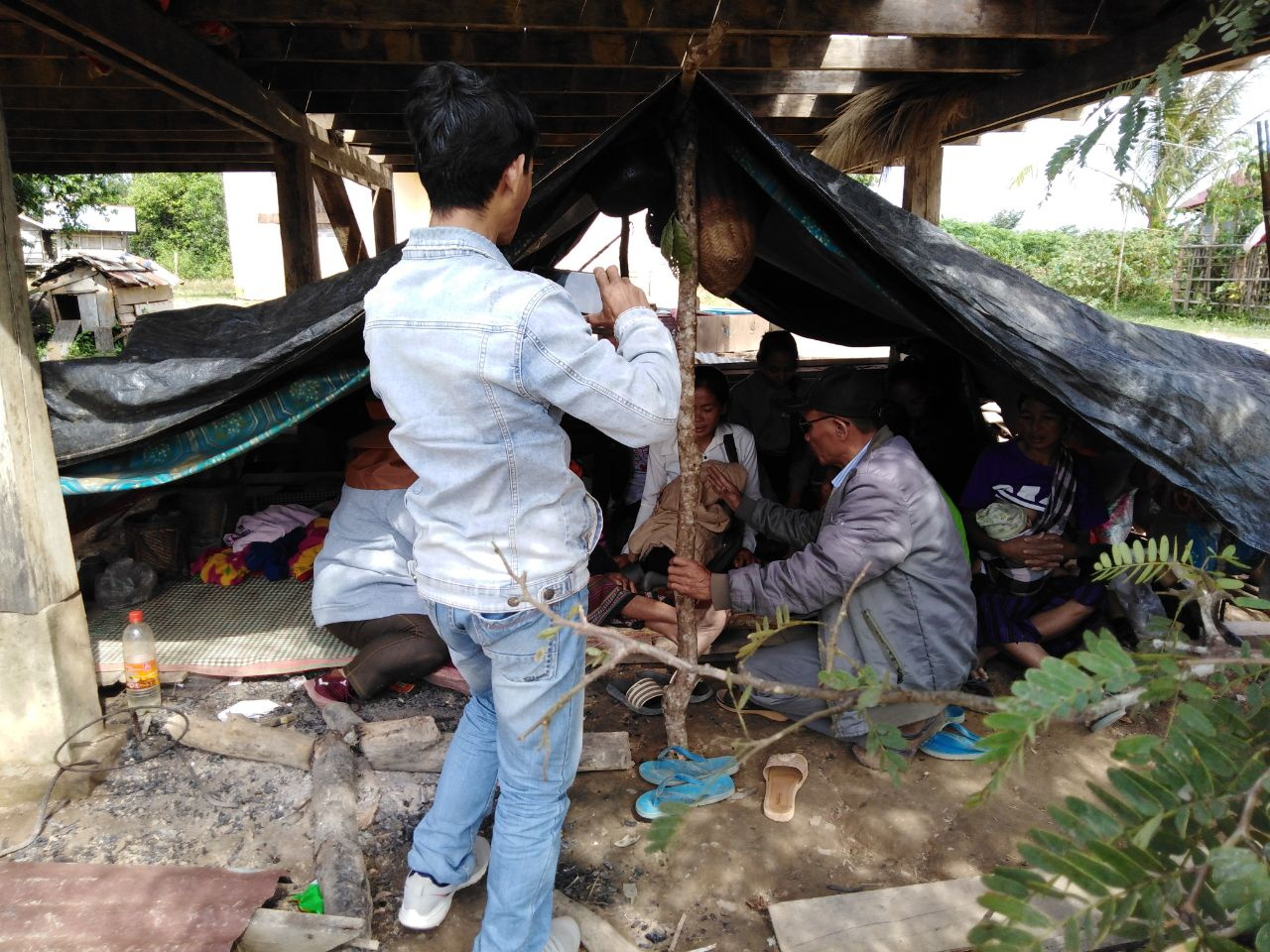 The header photo shows Christians in Laos who had their houses torn down by local authorities. (Photo courtesy of Asian Access)