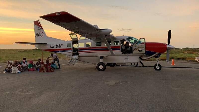 Aviation ministry evacuating refugees from insurgent attacks in Mozambique