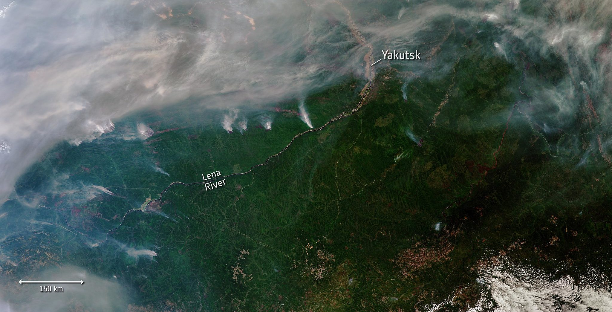 """Wildfires lead to """"airpocalypse"""" in Far East Russia"""