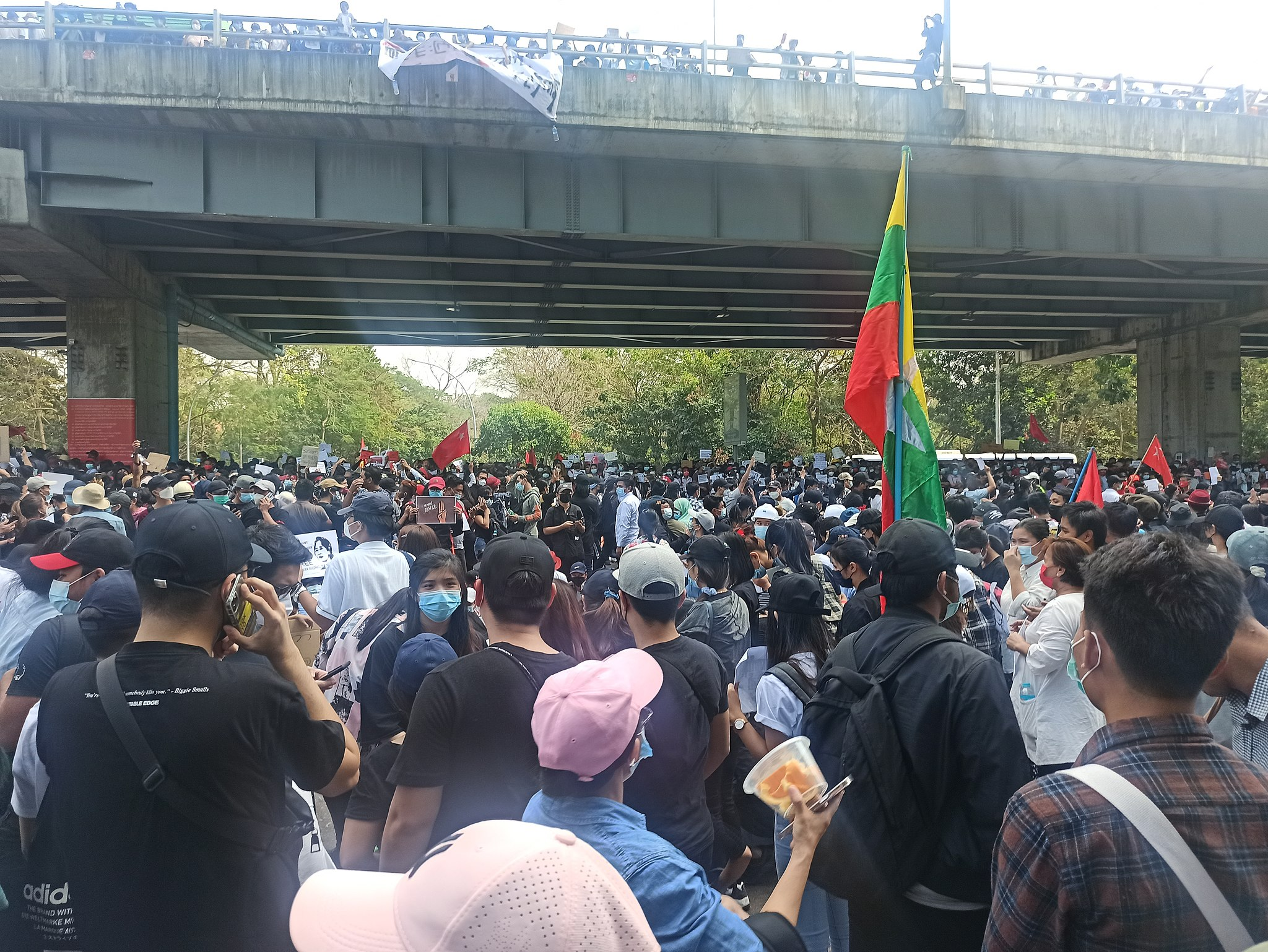 The header photo shows a protest in Yangon, Myanmar from February 2021. (သူထွန်း, CC BY-SA 4.0 <https://creativecommons.org/licenses/by-sa/4.0>, via Wikimedia Commons)